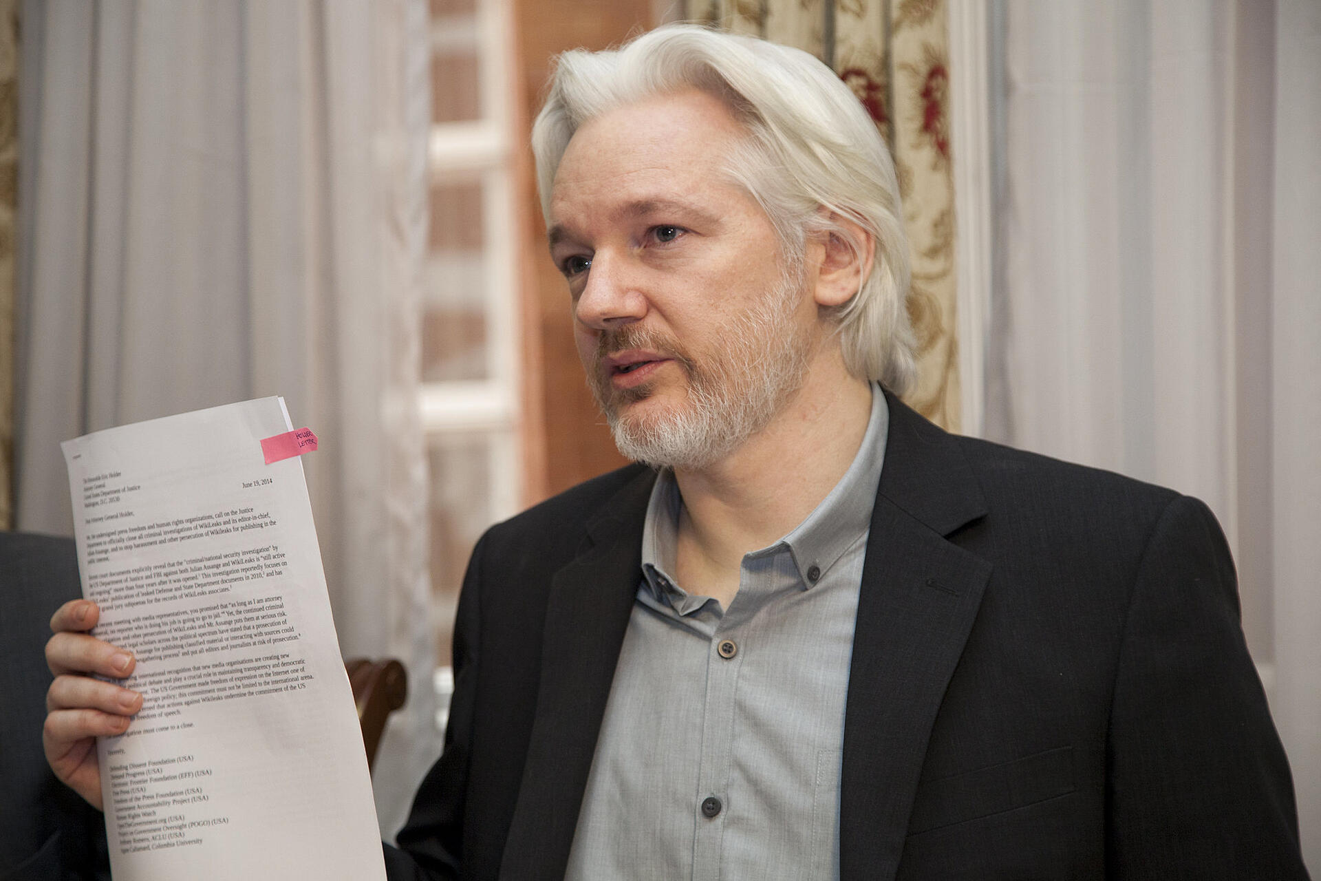 WikiLeaks publisher Julian Assange